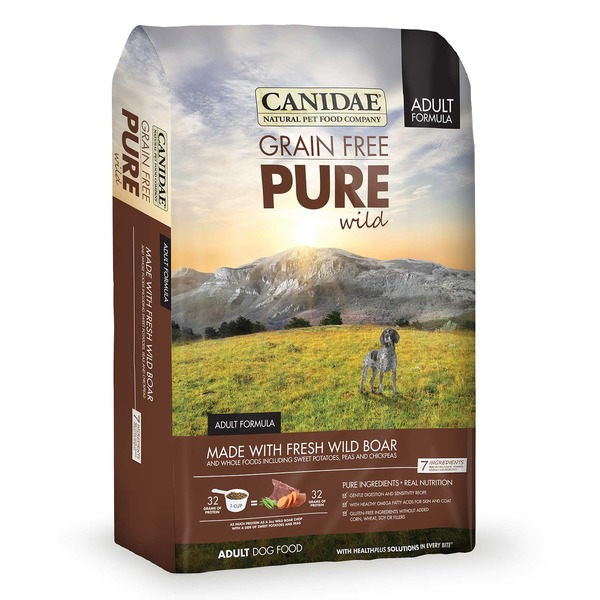 Canidae Grain Free Pure Wild Adult Formula Made with Fresh Wild Boar & Whole Food Including Sweet Potatoes, Peas & Chickpeas