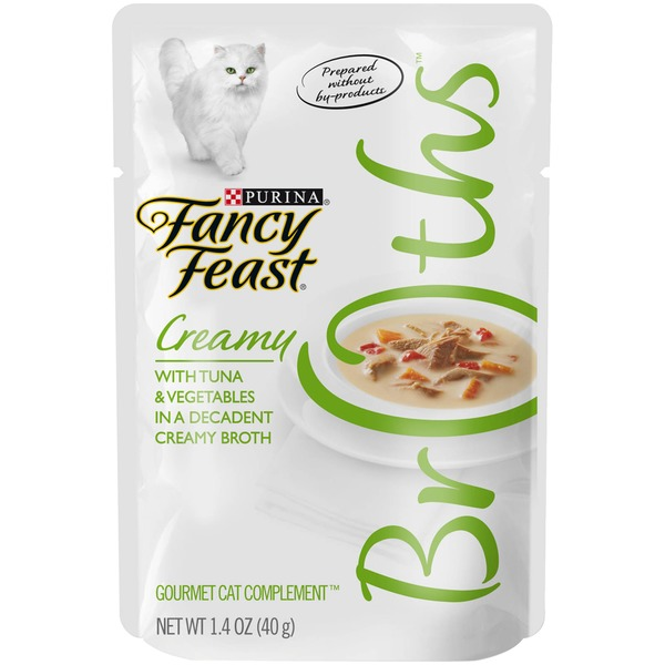 Fancy Feast Broths Creamy with Tuna & Vegetables Cat Food