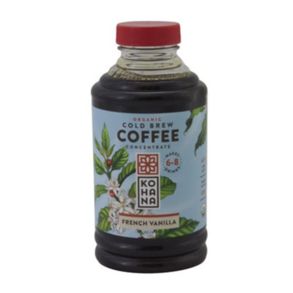 Kohana Coffee Organic French Vanilla Coffee Cold Brew Concentrate