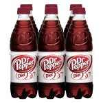 Diet Dr Pepper, 0.5 L, 6 pack