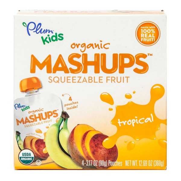 Plum Organics Mashups Tropical Apple Sauce