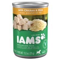 IAMS ProActive Health Adult Dog Ground Dinner with Chicken & Rice Premium Dog Food 13.2 Oz