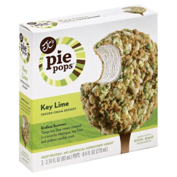 JC's Pie Pops Key Lime Frozen Cream Dessert