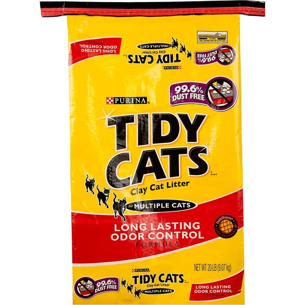 Purina Tidy Cats Clay Cat Litter for Multiple Cats Long Lasting Odor Formula