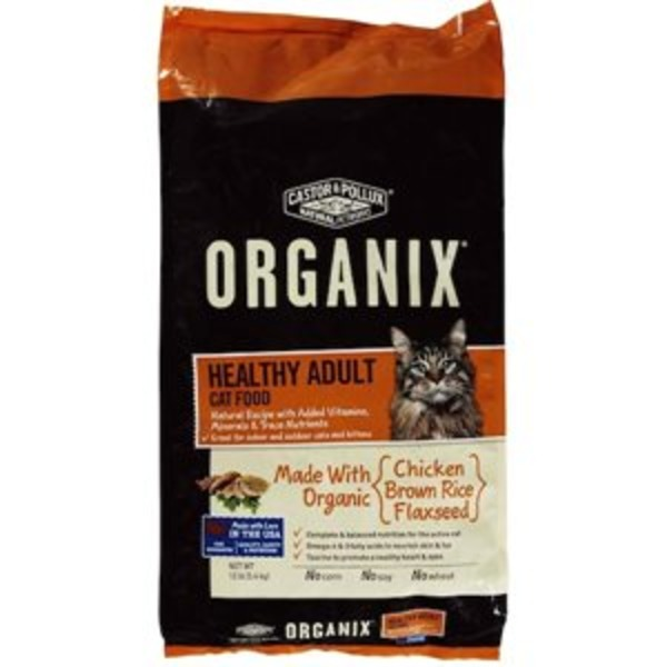 Castor & Pollux Chicken & Brown Rice Flaxseed Organix Healthy Adult Cat Food
