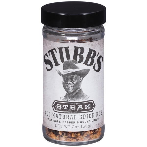 Stubb's Sea Salt, Pepper & Ancho Chile Steak All-Natural Spice Rub