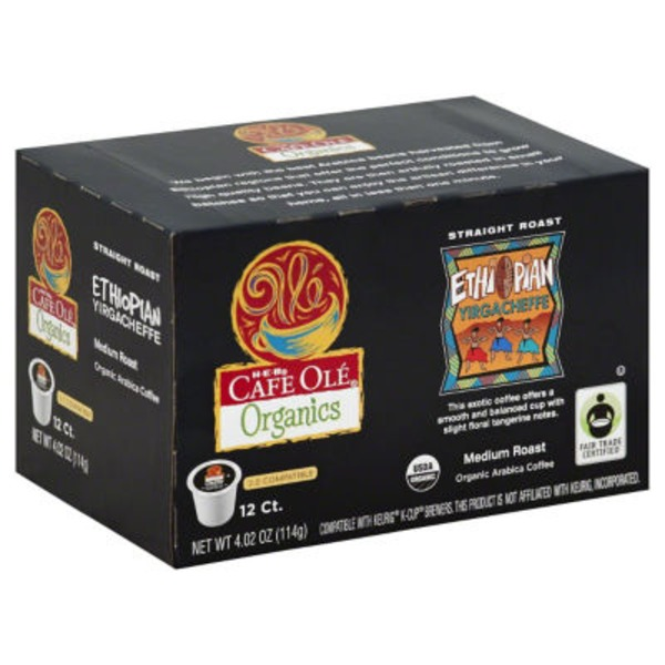 H-E-B Cafe Ole Organics Ethiopian Single Serve Coffee Cups