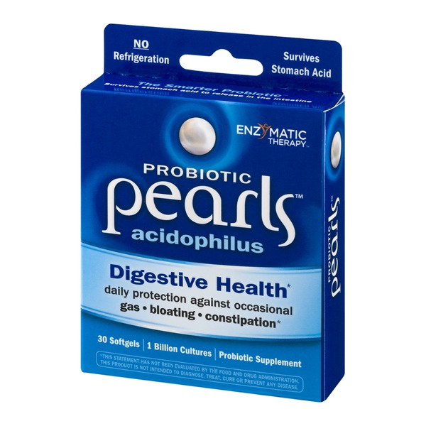Enzymatic Therapy Probiotic Pearls Acidophilus Digestive Health Softgels - 30 CT