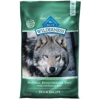 Blue Buffalo Wilderness Natural Evolutionary Diet With LifeSource Bits, Duck Recipe Natural Food for Dogs