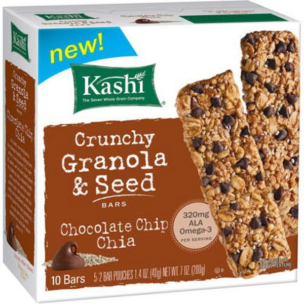 Kashi Crunchy Chocolate Chip Chia Granola & Seed Bars