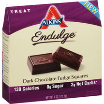Atkins Endulge Dark Chocolate Fudge Squares