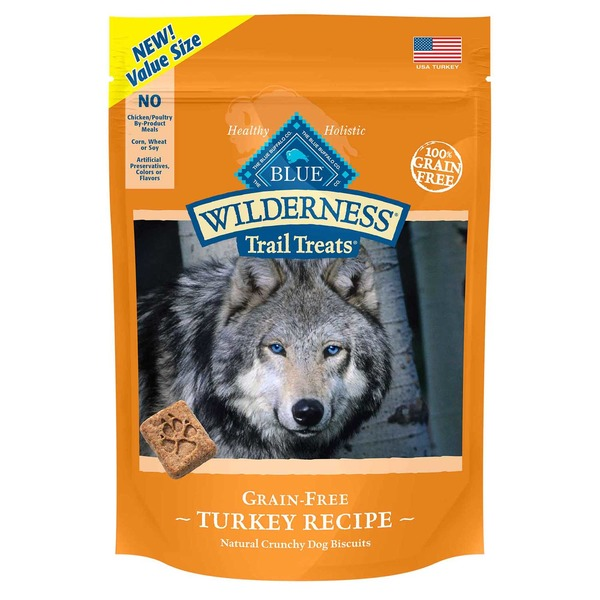 Blue Buffalo Grain Free Turkey Dog Biscuits Wilderness Trail Treats