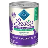 Blue Buffalo Food for Dogs, Natural, Grain-Free Formula, Turkey & Potato Recipe