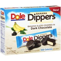 Dole Dark Chocolate Covered Real Banana Slices Banana Dippers
