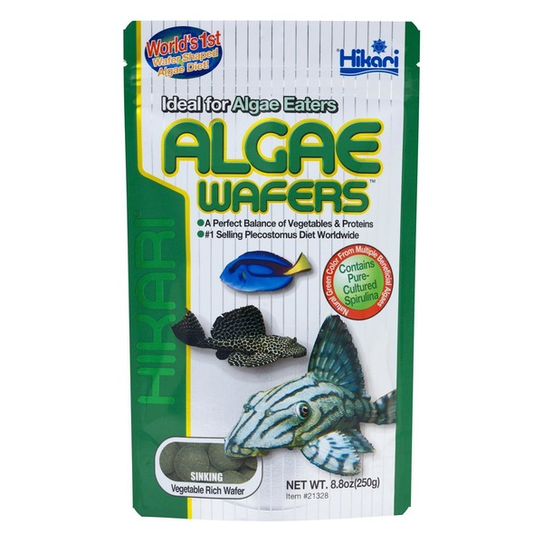 Hikari Tropical Algae Wafers For Bottom Feeding Herbivorous Fish