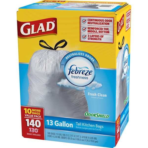 Glad Tall Kitchen Bag With Febreze Odor Shield