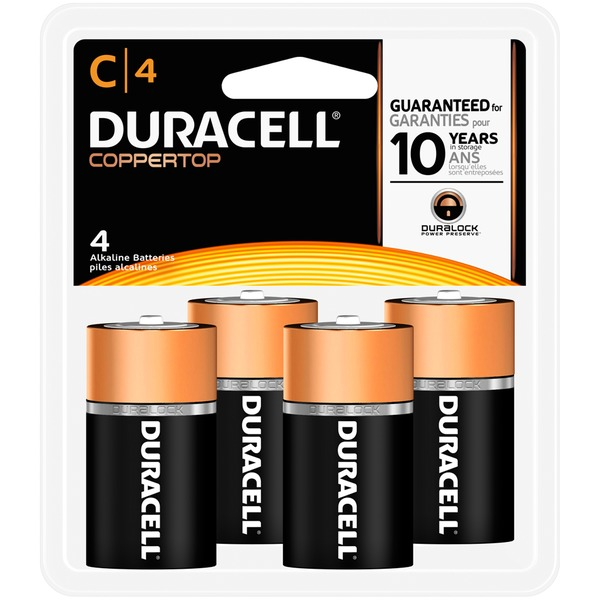 Duracell Coppertop C Alkaline Batteries 4count Primary Major Cells