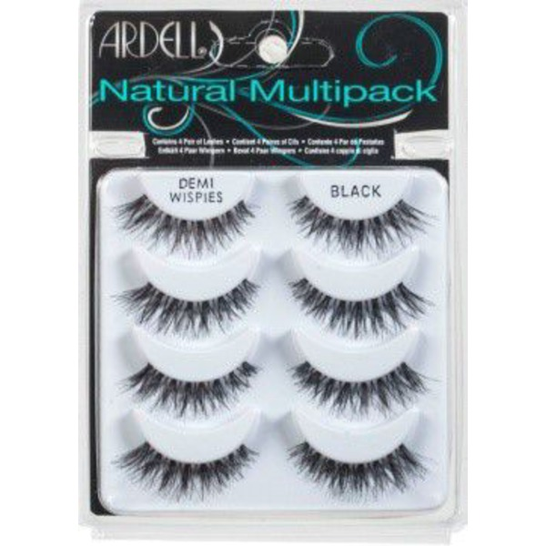 Ardell Lashes, Demi Wispies, Black, Multipack