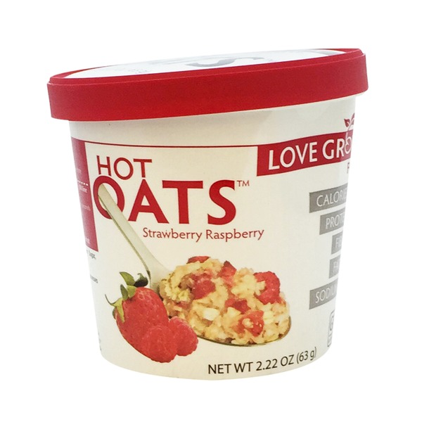 Love Grown Hot Strawberry Raspberry Oats