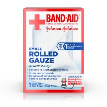 Band-Aid Brand Of First Aid Products Rolled Gauze, 2 Inches by 2.5 Yards