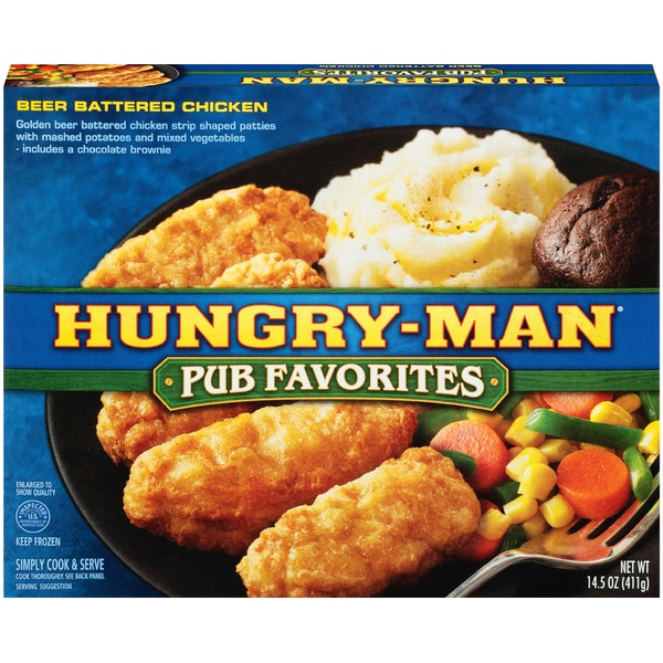 Hungry-Man Pub Favorites Beer Battered Chicken