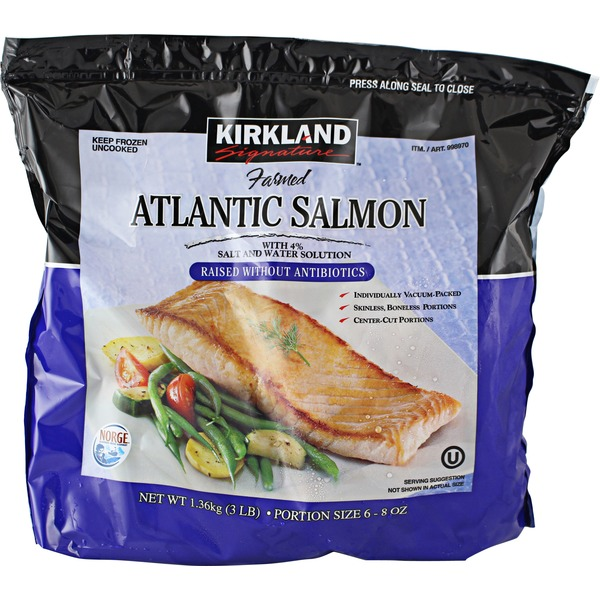 Kirkland Signature Farmed Atlantic Salmon Individually Wrapped