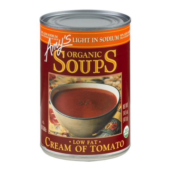 Amy's Organic Soups Cream of Tomato Low Fat
