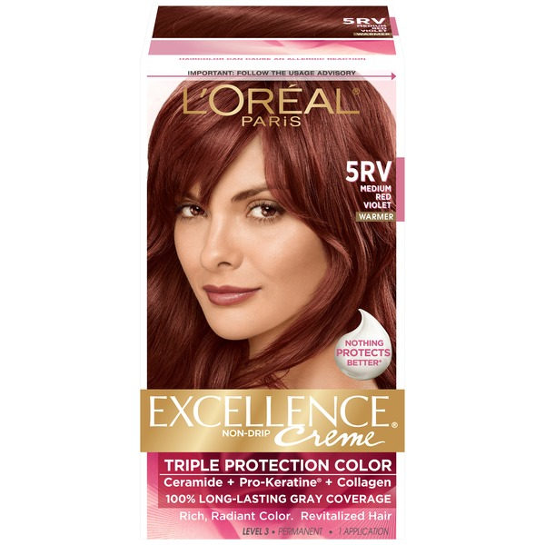 Excellence Creme Triple Protection 5RV Warmer Medium Red Violet Hair Color