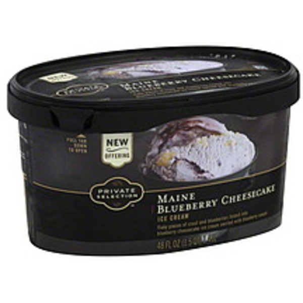 Kroger Private Selection Maine Blueberry Cheesecake Ice Cream