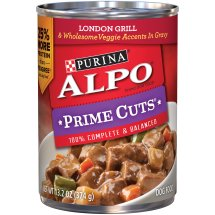 Purina ALPO Prime Cuts London Grill & Wholesome Veggie Accents in Gravy Wet Dog Food, 13.2 Oz.