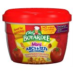 Chef Boyardee Mini-Bites ABC's & 123's Pasta with Meatballs, 7.5 Oz.