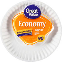 Great Value Economy 6 Paper Plates