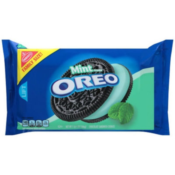 Nabisco Oreo Chocolate Mint Creme Sandwich Cookies