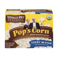 Newman's Own Pop's Corn Organic Microwave Popcorn Light Butter - 3 CT