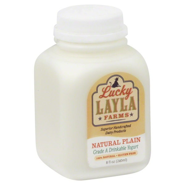 Lucky Layla Farms Yogurt, Drinkable, Natural Plain