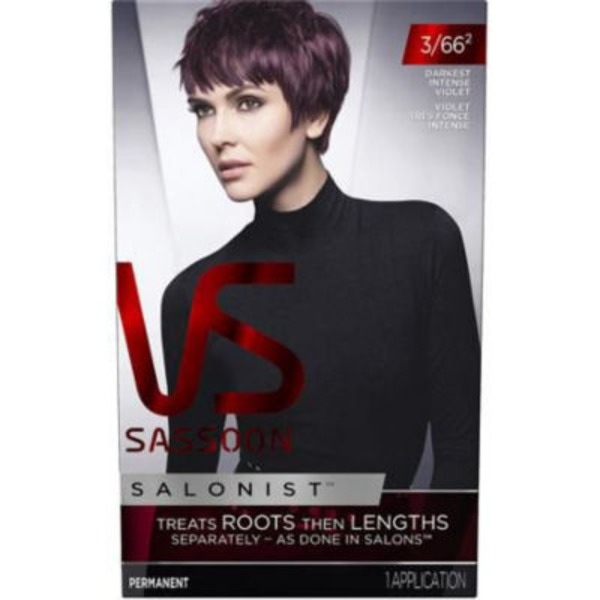 Vidal Sassoon Salonist Permanent 3/66 2 Darkest Intense Violet Hair Colour