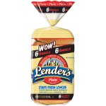 Lender's Plain Bagels, 6 ct, 17.1 oz