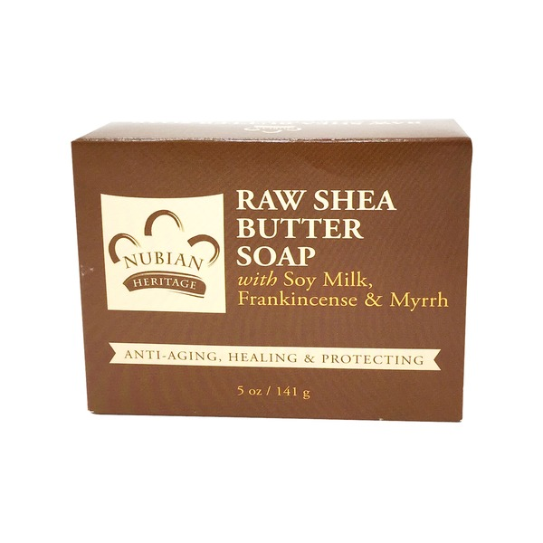 Nubian Heritage Bar Soap Raw Shea Butter Age Defying & Protecting