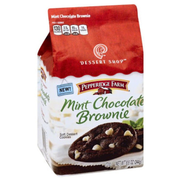 Pepperidge Farm Cookies Dessert Shop Mint Chocolate Brownie Soft Dessert Cookies