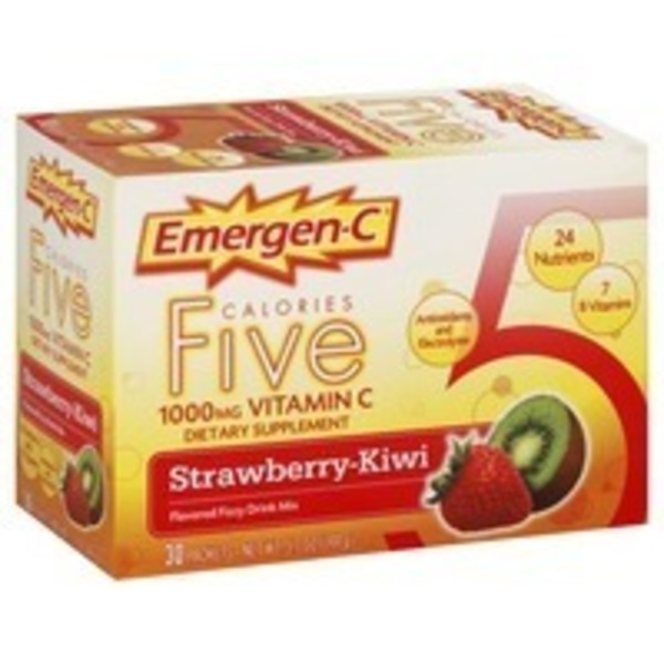 Emergen-C Flavored Fizzy Drink Mix 1000 mg Vitamin C Strawberry-Kiwi