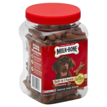 Milk-Bone Soft and Chewy Beef and Filet Mignon Recipe Dog Treats, 25 Oz.