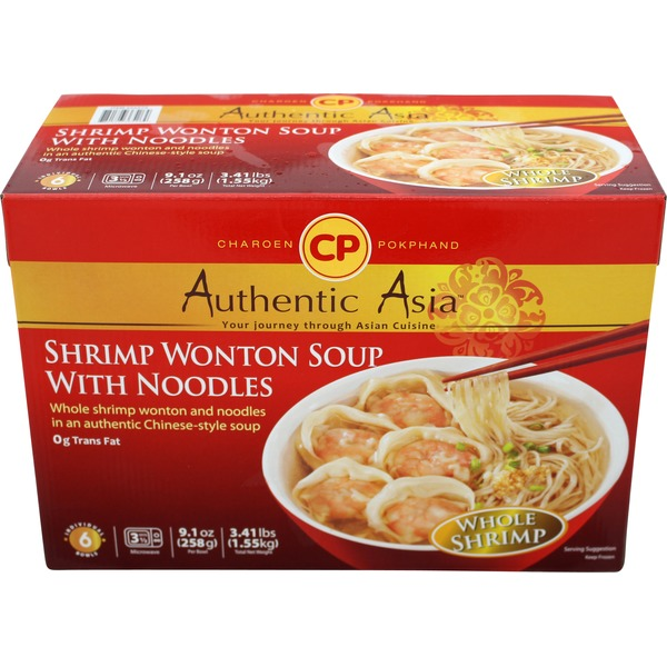 Charoen Pokphand Authentic Asia Shrimp Wonton Soup with Noodles
