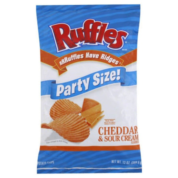 Ruffles Party Size Cheddar & Sour Cream Potato Chips