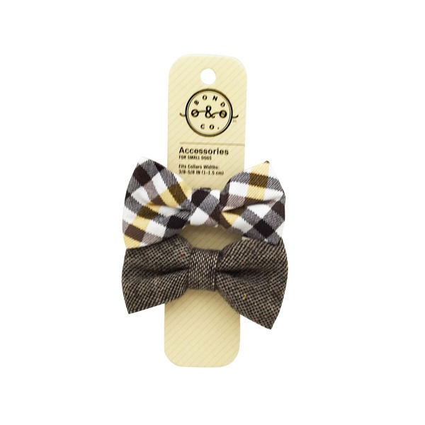 Bond & Co 2 Pk Bowtie Tie Set Brown