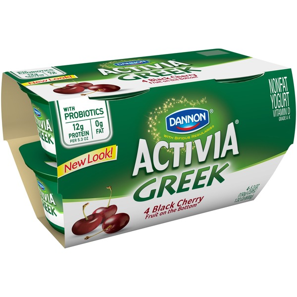 Activia Greek Black Cherry Nonfat Probiotic Yogurt