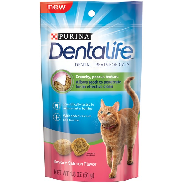 Dentalife Cat Savory Salmon Flavor Dental Cat Treats