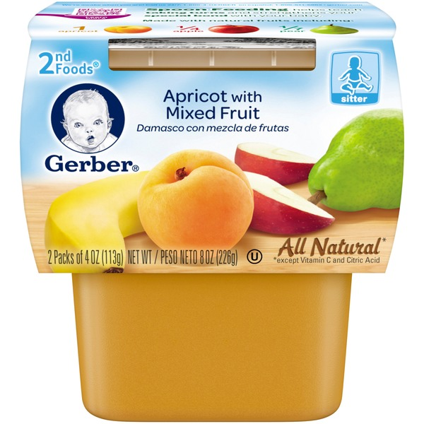 Gerber Apricot with Mixed Fruit 2nd Foods