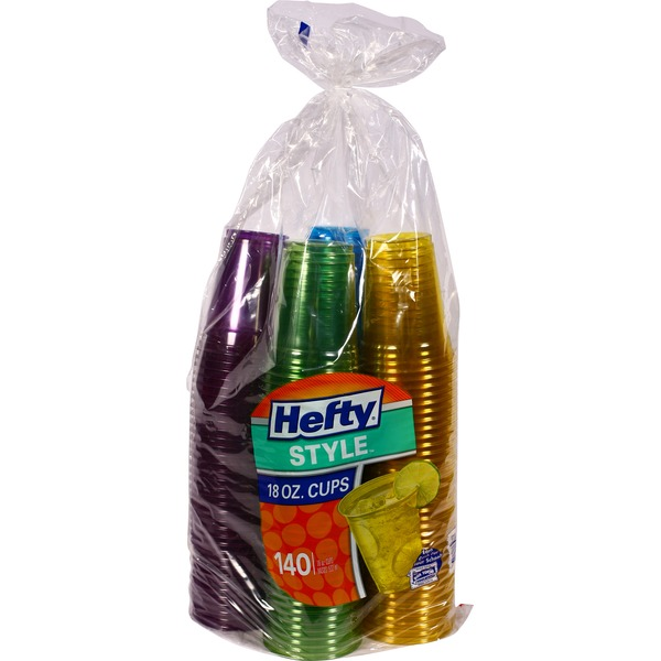 Hefty Style Cups 18 oz Blue/Green/Yellow/Red Plastic Cups  sc 1 st  Burpy & Costco Hefty Style Cups 18 oz Blue/Green/Yellow/Red Plastic Cups ...