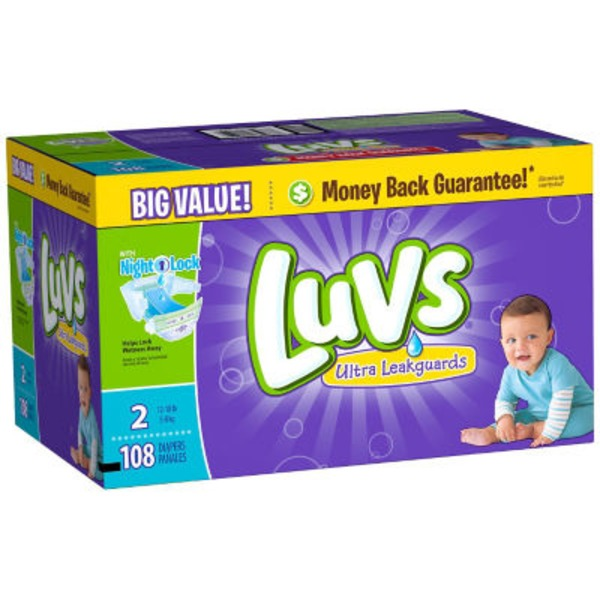 Luvs Ultra Leakguards Diapers Size 2 108 count Diapers