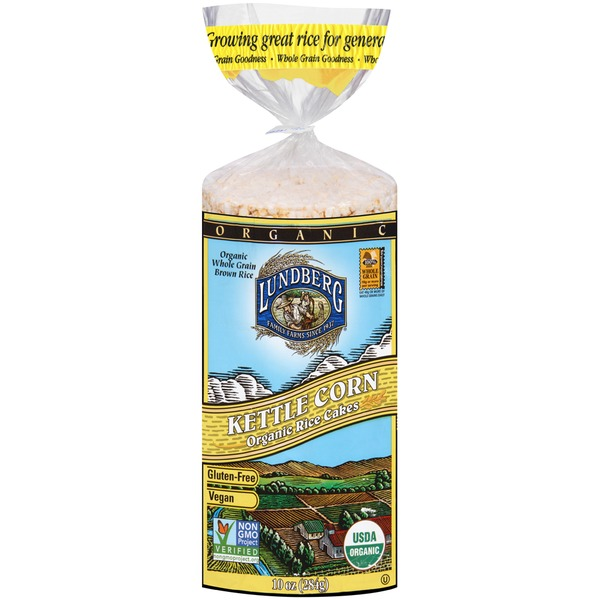 Lundberg Family Farms OG Kettle Corn Organic Rice Cakes